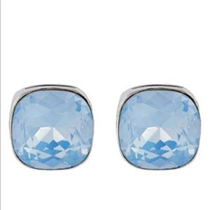 The limited square gem earring
